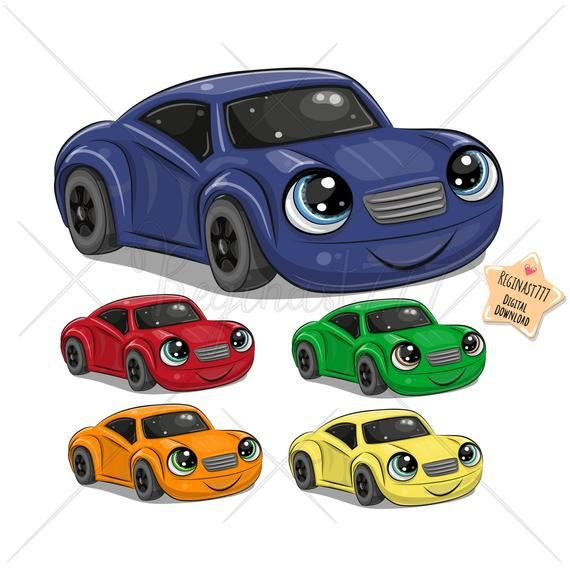 Cute Car Png Face Eyes Digital Download Clipart Cartoon Etsy Cute Cars Clip Art Baby Girl Clipart