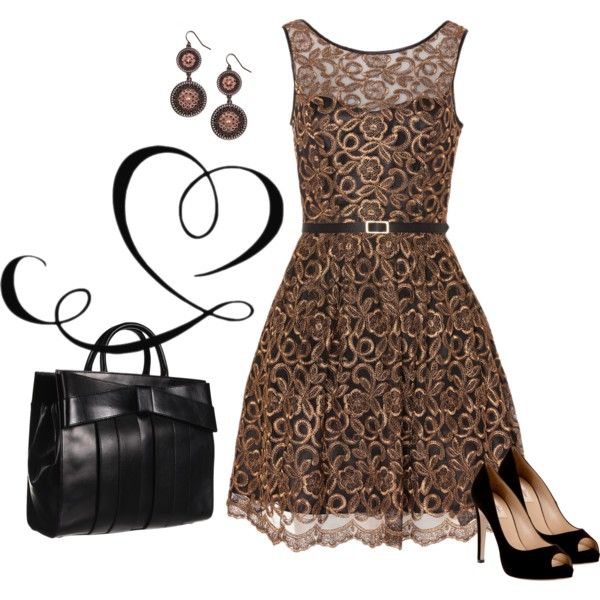 """No. 21 - Going to a Wedding / Bronze Style"" by hbhamburg on Polyvore"