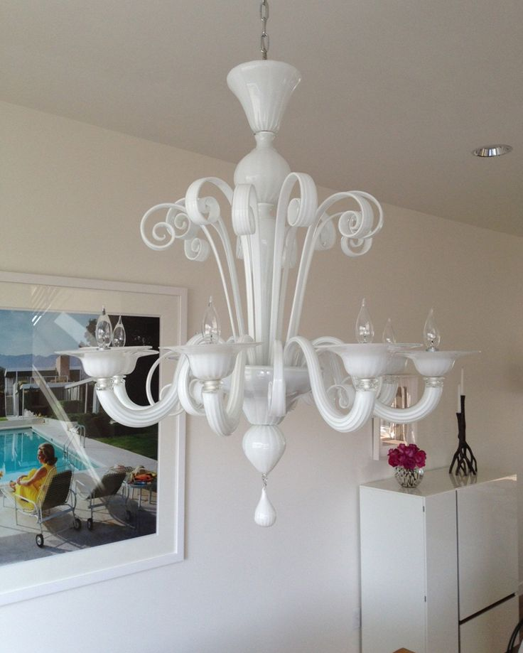 21 best custom chandeliers images on pinterest chandelier a stunning 8 arm murano chandelier produced in a milk white finish supplied to a aloadofball Gallery