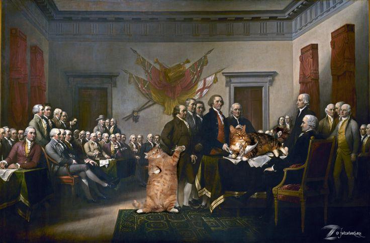 USA ART XIX century   Trumbull, Declaration of Independence