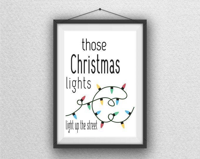 Coldplay Lyrics Christmas Holiday Lights Wall Art Printable Decor Digital Download Light Wall Art Printable Wall Art Printable Decor