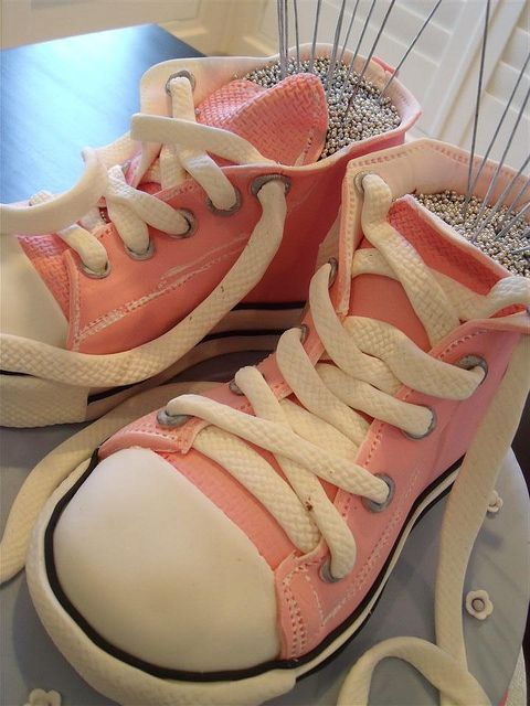 converse boots cake (Custom) by cake by kim, via Flickr
