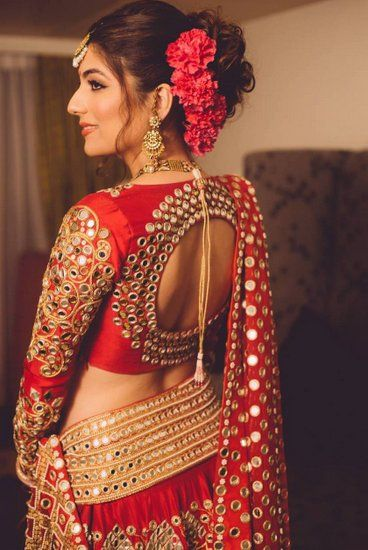 Red Bridal lehenga and stunning blouse