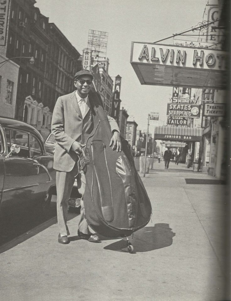Jazz Scans — Paul Chambers photographed in Manhattan on the way...