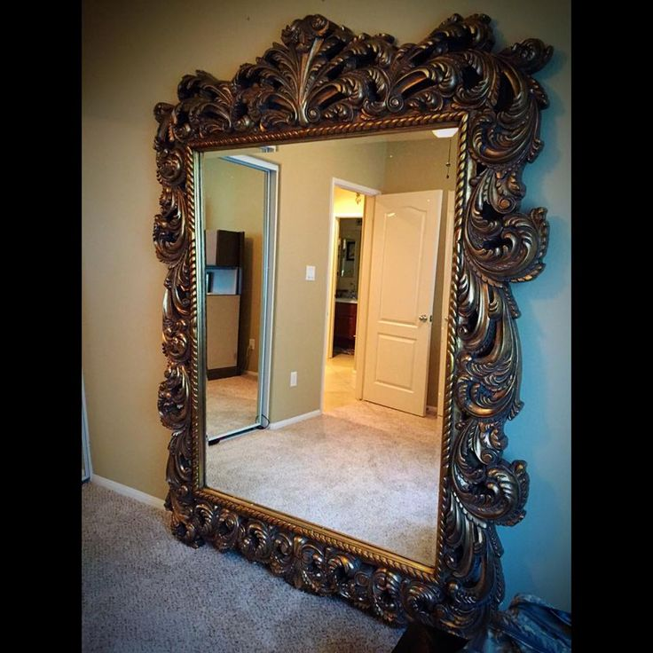 A Customer Sent Us This Picture Of Our Napoleon Mirror That They Just Got.  Add Major Drama Your Decor With A Grand Floor Mirror