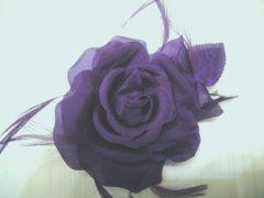 Single Silk Rose - Purple