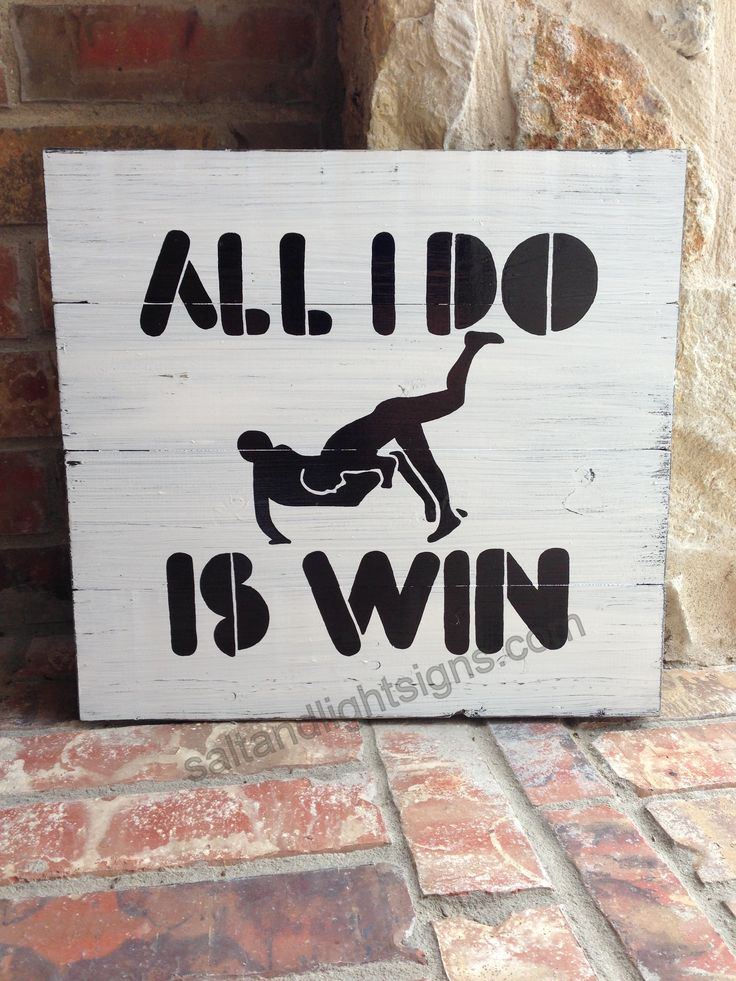 Sports Wrestling wooden sign