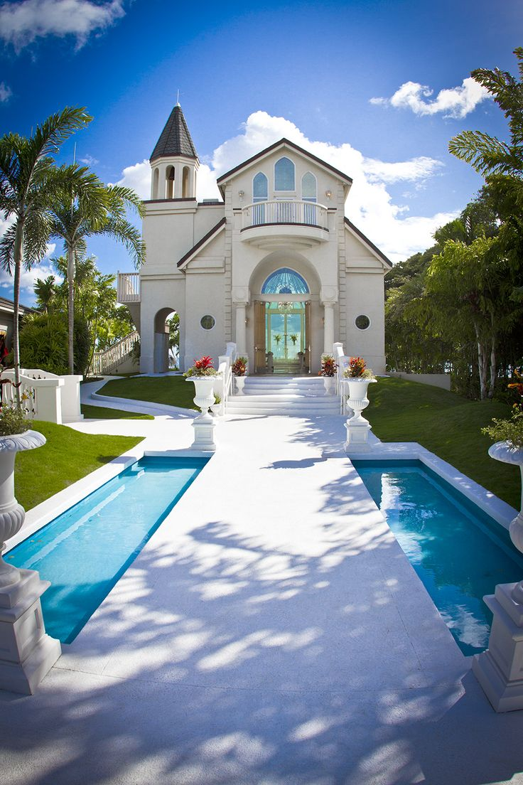 a beautiful photo of our paradise cove hawaii wedding chapel captured by a visitor