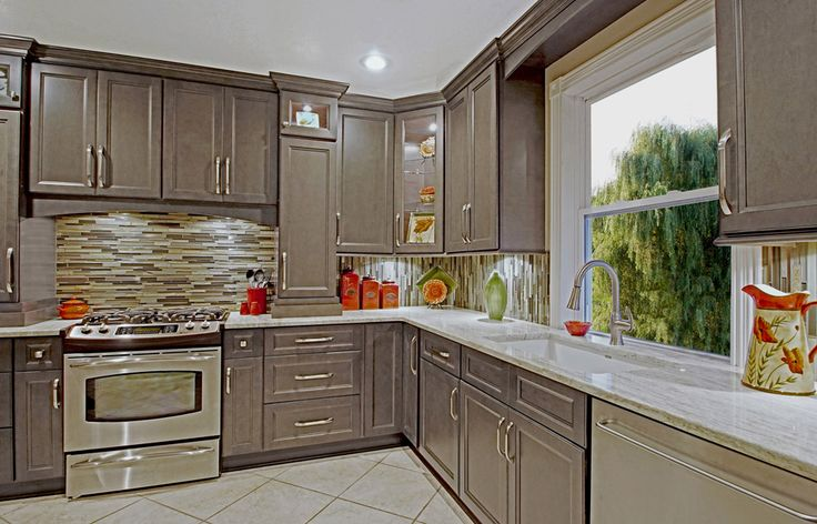 West Point Grey Kitchen Cabinets - RTA Kitchen Cabinets. I like the medium grey sort taupe