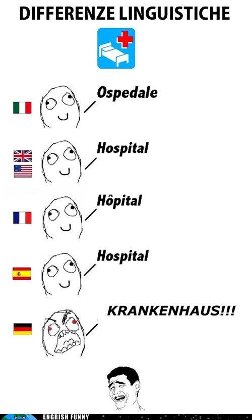 Krakenhaus!!!Difference, German Languages, Laugh, Hospitals Smile Mak, Differenz Linguistich, Damn German, Epic Fail Photos, Funny Stuff, Engrish Funny