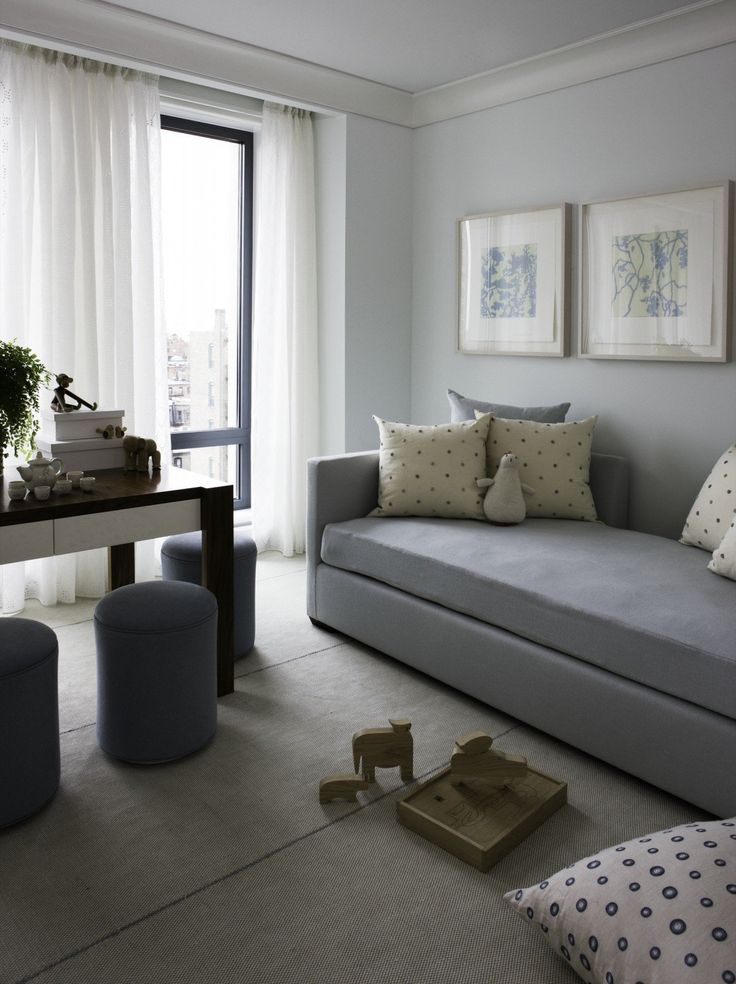 Gray Minimalist Living Room Gets A Little Whimsy Project In Boston MA By Foley Cox Interiors