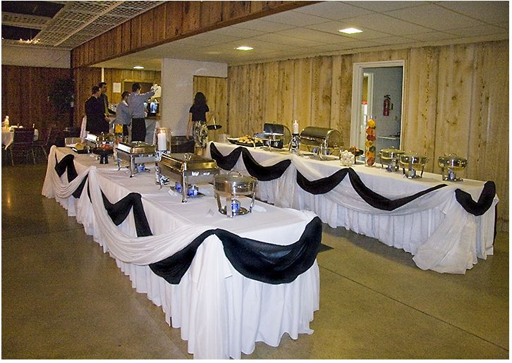 Buffet Tables. I love how well presented these are!
