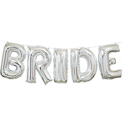 This Silver Bride Balloon kit is a great price! Find more Bachelorette Party Supplies & Decorations bargains at The House of Bachelorette!