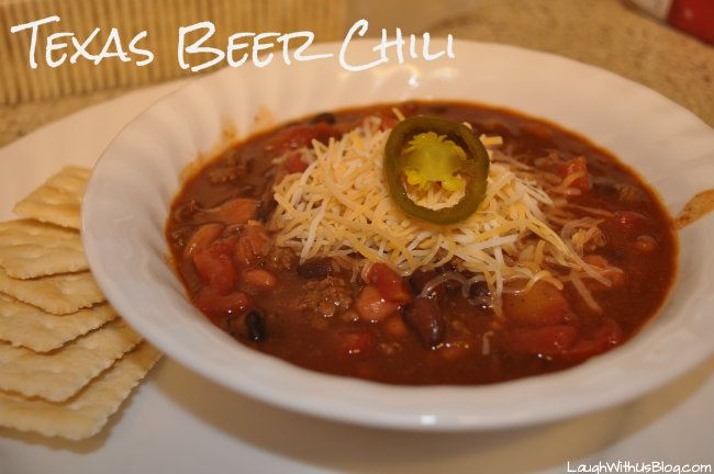 Quick Texas Beer Chili recipe ~LaughWithUsBlog