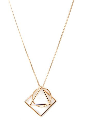 Geo Cutout Pendant Necklace | FOREVER21 - 1000060353