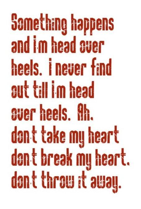 Tears for Fears - Head Over Heels - song lyrics, music lyrics, song quotes, music quotes, songs