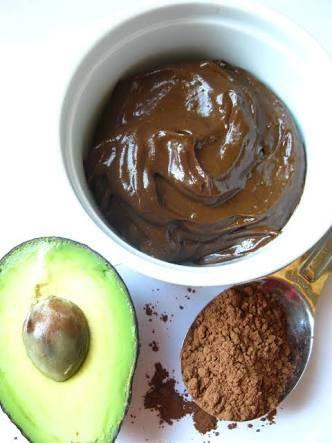 Avocado & Dark Chocolate Frosting.