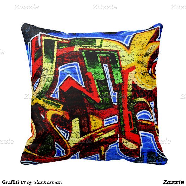 Graffiti 17 throw pillows