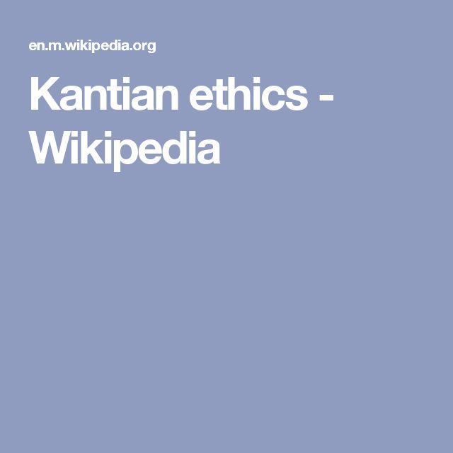 Kantian ethics - Wikipedia