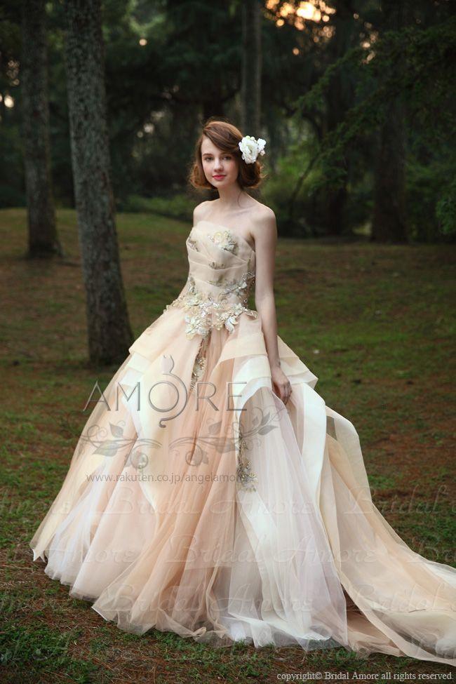 【楽天市場】ウェディングドレス_ウエディングドレス_Aライン_プリンセス(c094)二次会ドレス:ブライダルアモーレ