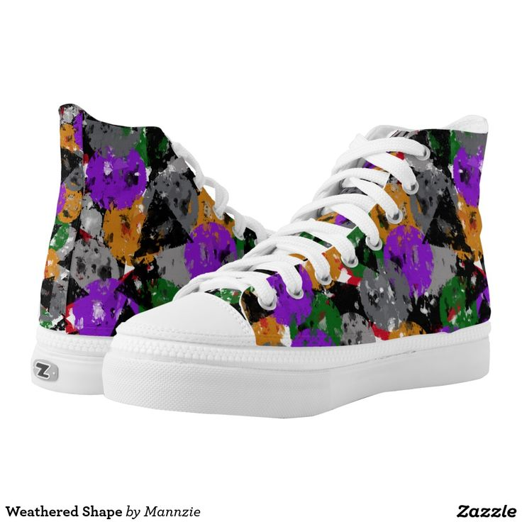 Weathered Shape High-Top Sneakers