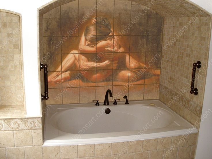 Printed Tile In Bathroom Renovation Home Decoration