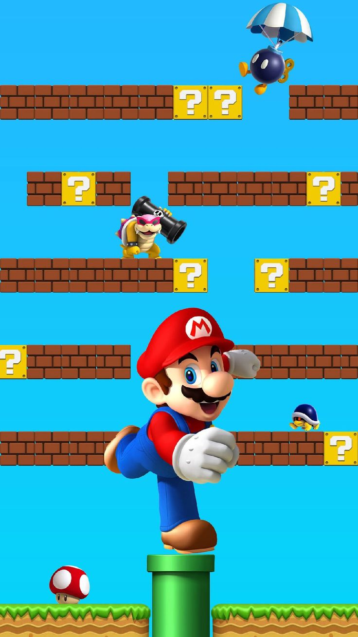 ↑↑TAP AND GET THE FREE APP! Shelves Super Mario Colorful Awesome Сomputer Graphics Games Geeks 8bit Multicolored Cool HD iPhone 6 plus Wallpaper