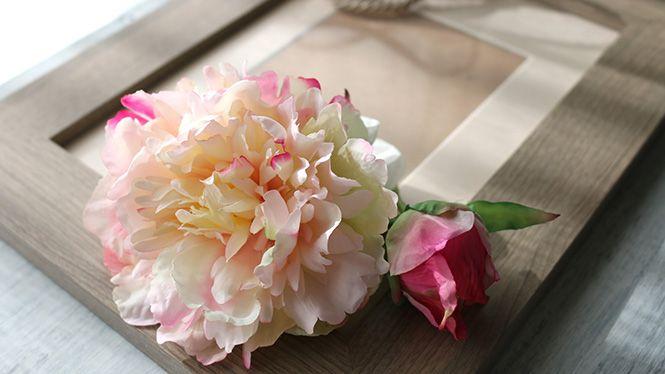 しゃくやくのヘッドドレス 桜色 http://www.fleuriste-glycine.jp/