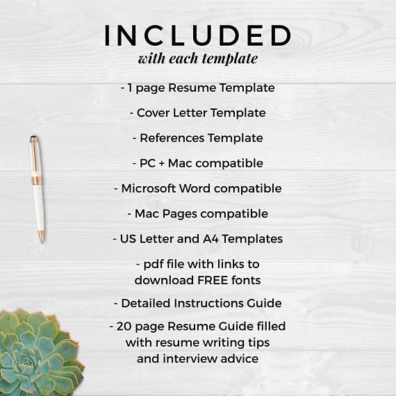 The 25+ best Free resume templates word ideas on Pinterest Cover - resume cover letter template word