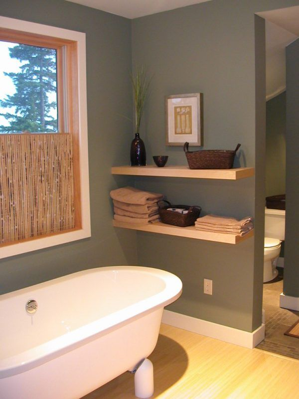 Wooden bathroom shelves | Bathroom wall shelves, Small bathroom and ...