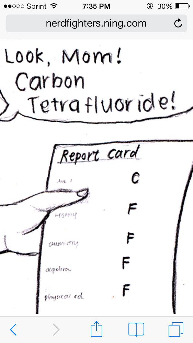 well if you know what carbon tetrafluoride is you probably wouldn't have those grades to begin with…