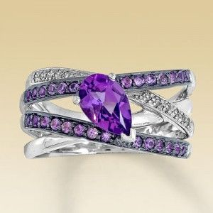 Purple Diamond Ring