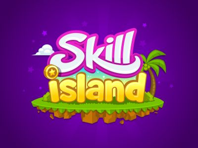 Cartoon text logo for Skill Island.  See attached for more project info.