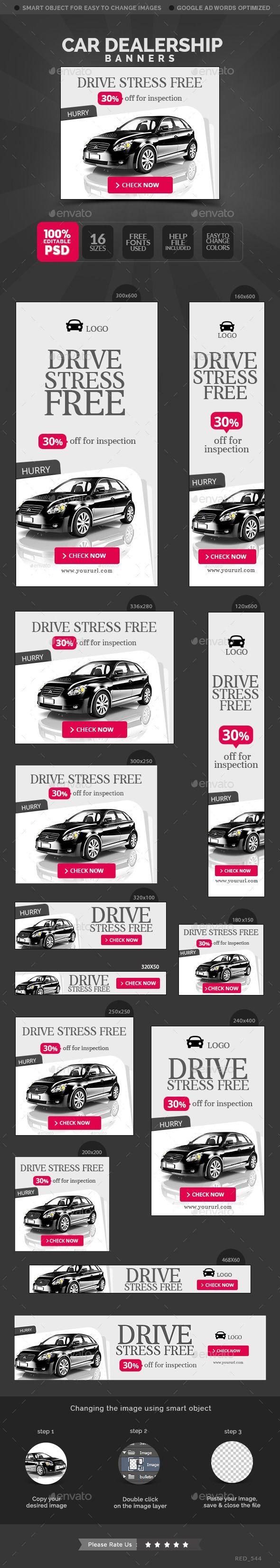 Car Dealership Banners Template #design Download: http://graphicriver.net/item/car-dealership-banners/12594326?ref=ksioks
