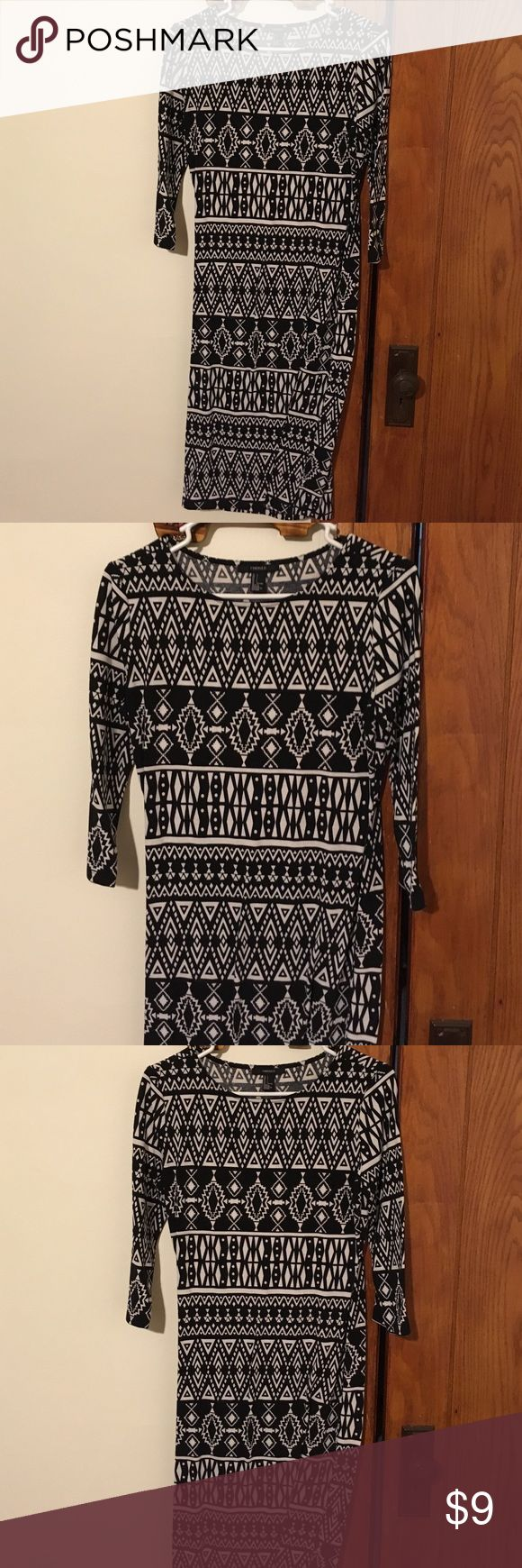 Aztec dress Great for work, church or a date out. Forever 21 Dresses High Low