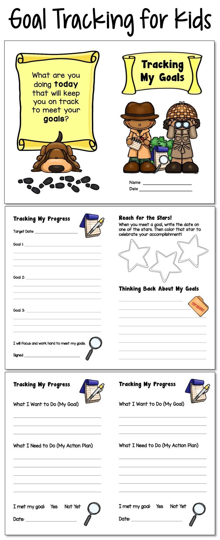 Data and goal tracking for kids! Create your own student journal by choosing from 20 different page and cover options. You can preview all page options before purchasing. $