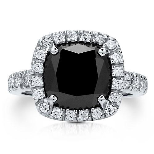 """Коктейльное кольцо на правую руку """"Оникс"""" из стерлингового серебра с цирконом CZ огранки """"подушка"""" UAH 663.43"""