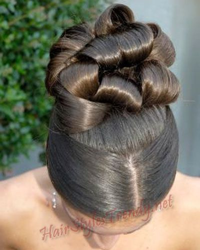 black updo hairstyles for weddings on African American Wedding Hairstyles Hairdos Updo With Floral Comb #blackwomen #hairstyle