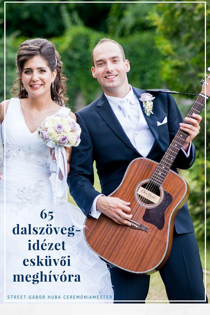 65 dalszöveg-idézet esküvői meghívóra / Wedding quotes from songs lyrics