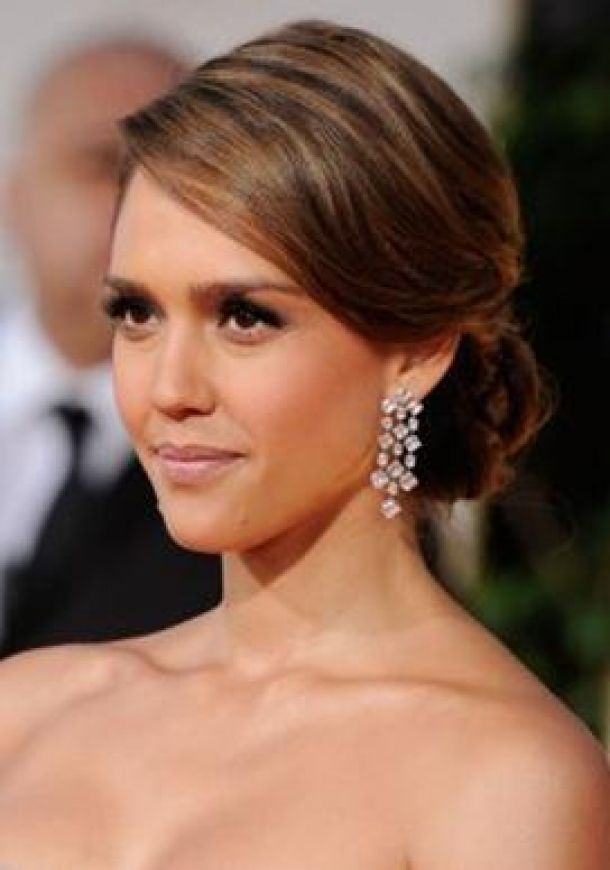 Image detail for -Home » Wedding Hairstyles » Jessica Alba S Low Chignon Is A ...
