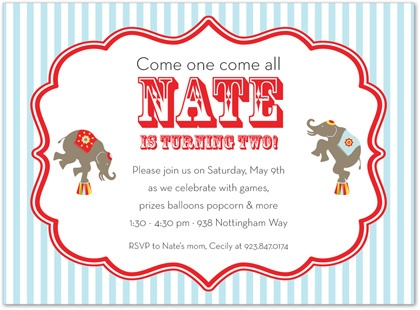 134 best Kids Birthday Invitations images on Pinterest Birthday - circus party invitation