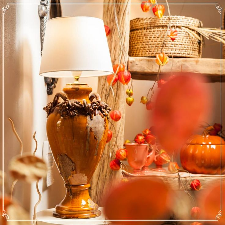 Pumpkin Lamps for the perfect Halloween party! Only @ ChicVille