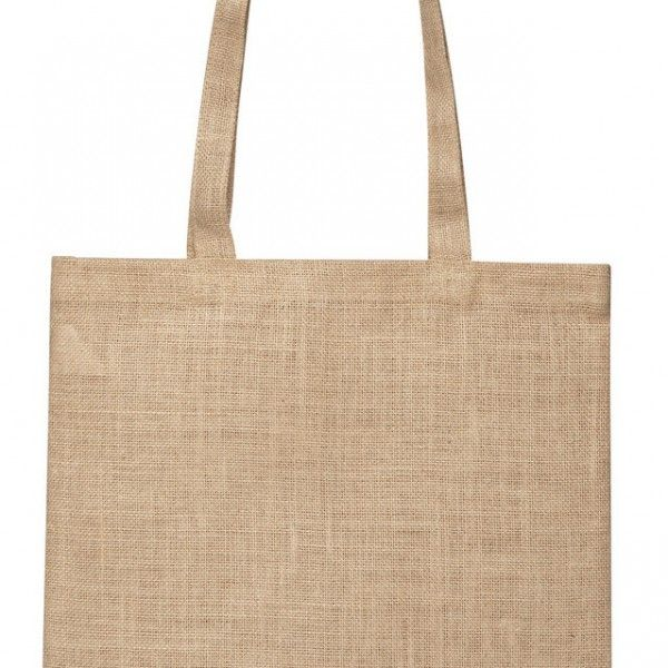 STARCHED JUTE SUPERMARKET BAG – TB 0137 J  Price includes 1 color, 1 position print   2 Color imprint available for an additional charge