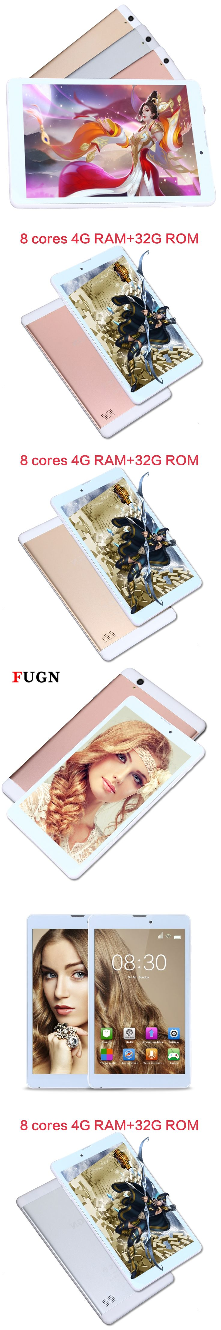 FUGN 8 inch Kids Android Tablet PC GPS WiFi 3G SIM Card Dual Cameras Tablet 4GB RAM Smart Drawing Tablet for Children 7 9.7 10''
