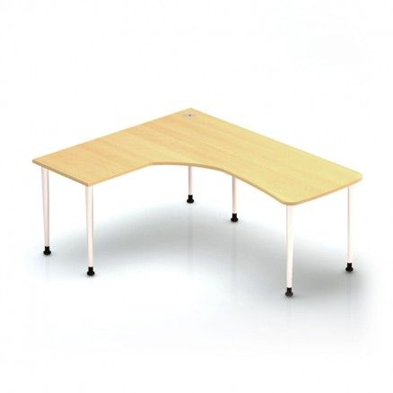 Volt W6072 - L Shape computer corner table.  Available for online purchase at Ugoburo.ca