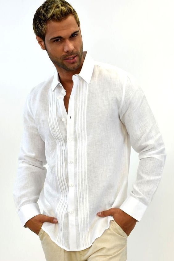 23 best ropa caballero images on Pinterest | Linen shirts, Man style ...