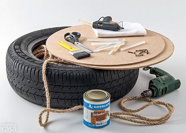 How To: Turn an Old Tire into a Stylish, Nautical-Inspired Ottoman | Curbly