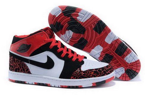 Mens Nike Air Jordan 1 Retro Shoes 07 Black Red [Men AJ 1 Retro-07] - $86.19 : Wholesale Cheap Air Jordan,Wholesale Nike Air Max,Sale Nike Shox Shoes with 55%off, wholesale nike