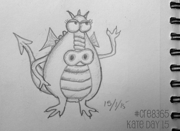 Funny dragon for day 16 of our creative year challenge! #cre8365