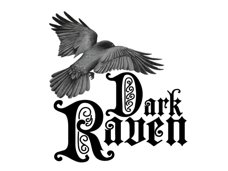 Logo design. Despite the little raven being hand drawn it bcame the identifying aspect of the logo